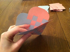 Insert Note into Your Woven Paper Heart Envelope