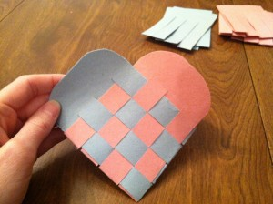 Finished Woven Paper Heart